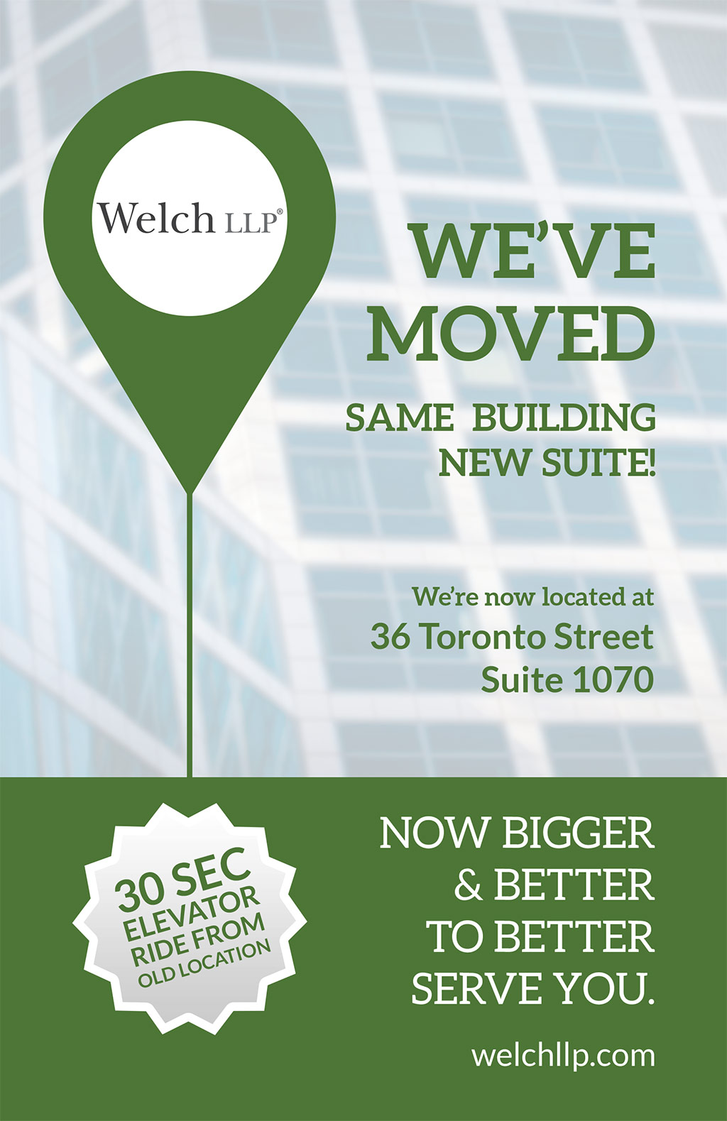 Our Toronto Office Has Now Moved