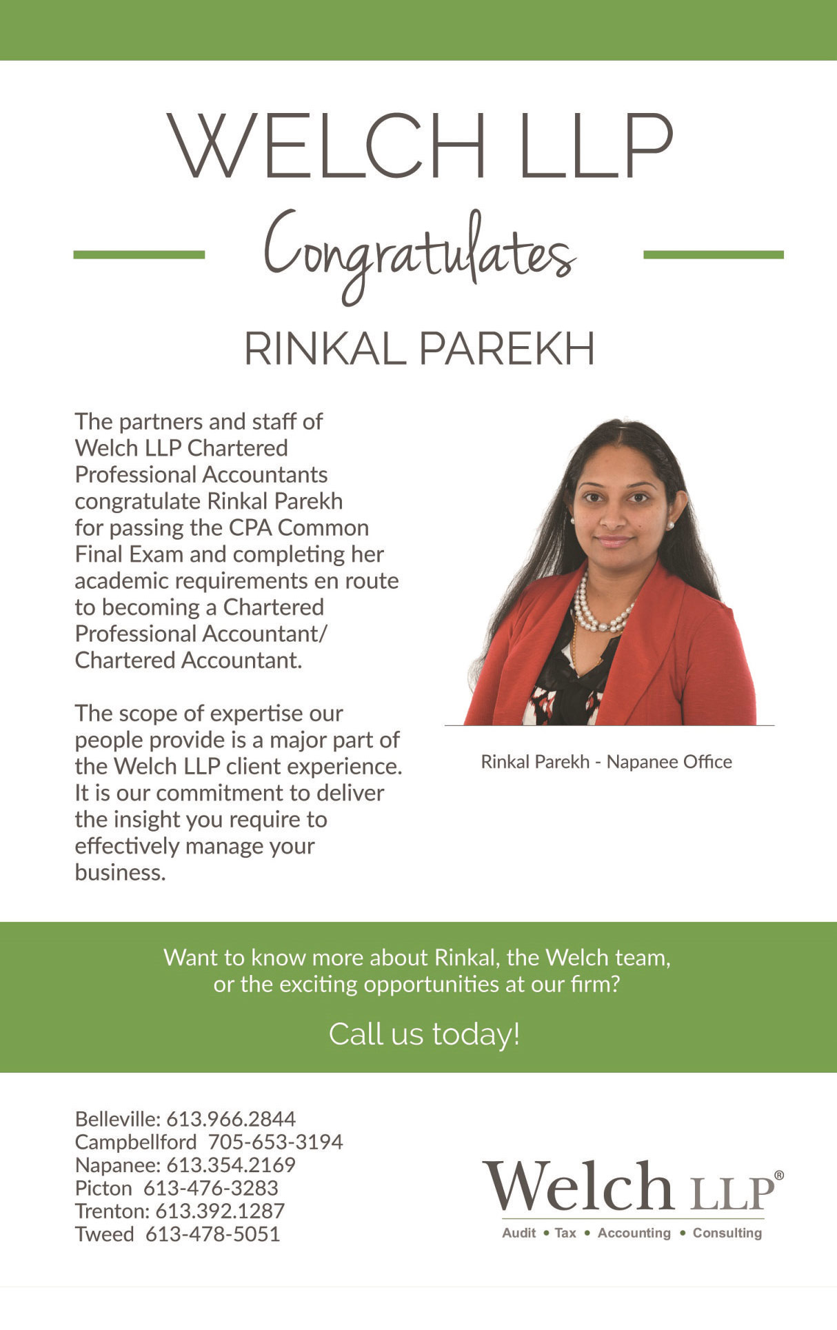 Congratulations to Rinkal Parekh For Passing the CFE