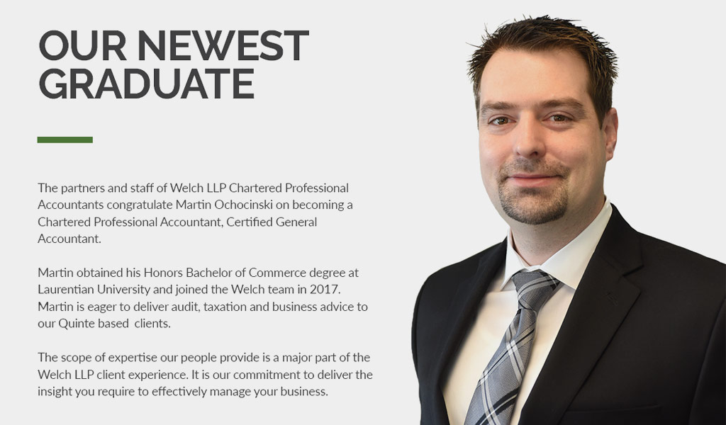 Congratulations to Marin Ochocinsk for becoming a Chartered Professional Accountant, Certified General Accountant