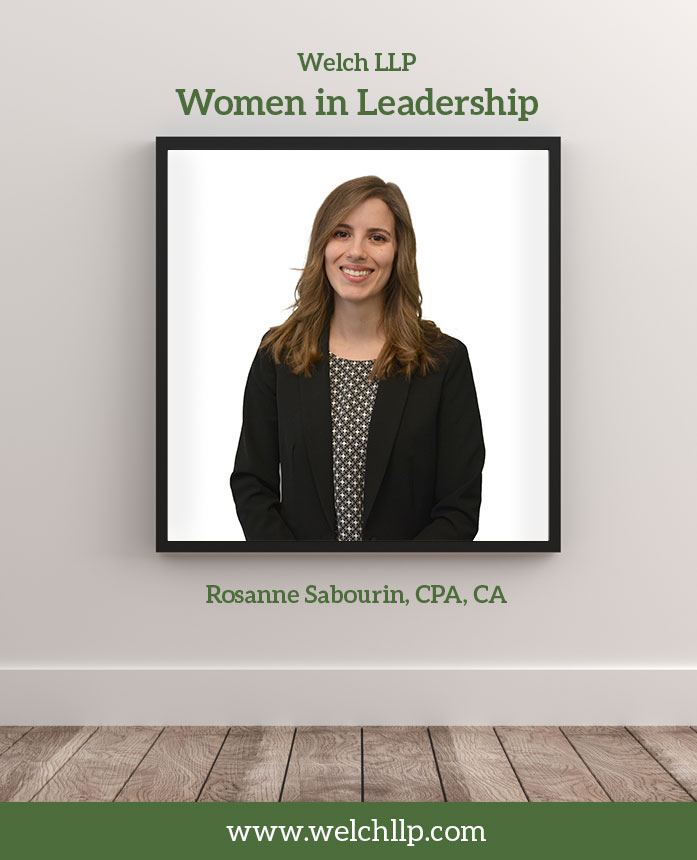 Welch LLP's Women in Leadership: Rosanne Sabourin