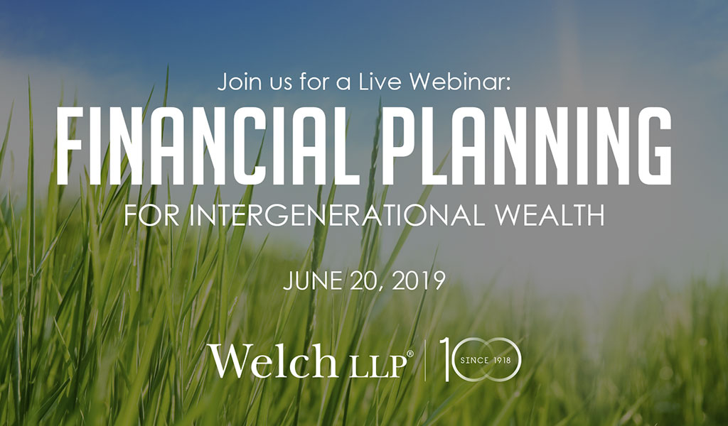 Financial Planning for Intergenerational Wealth
