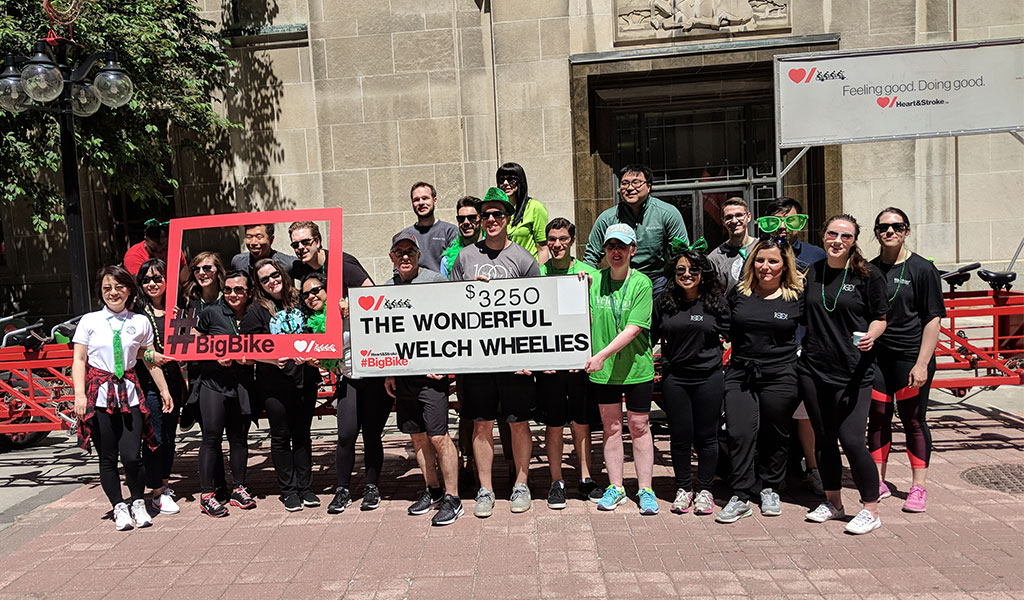 Welch LLP Big Bike team raises a total of $3,525 for the Heart & Stroke Foundation